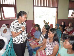 Irine berupaya menjembatani program pemerintah dengan kebutuhan riil warga di Loloda.